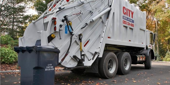 Truck and disposing of residential waste